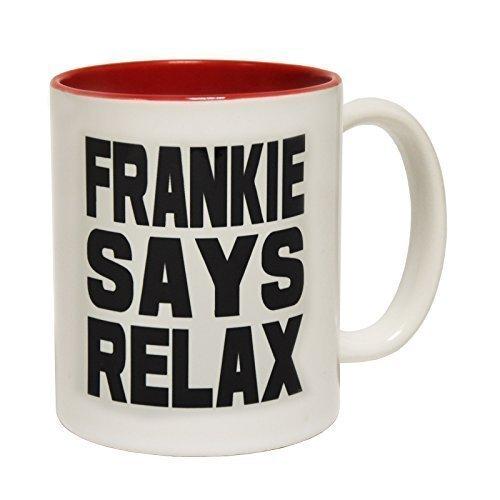Frankie Says Relax 80s Slogan Mug, Ceramic with Gift Box