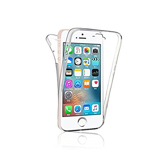 Mb Accesorios iPhone 5-5S-5SE Funda DE Silicona Delantera + Trasera Doble 100% Transparente