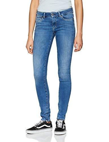 Pepe Jeans Trixie, Vaqueros Skinny Para Mujer, Azul (Denim), W27/L30