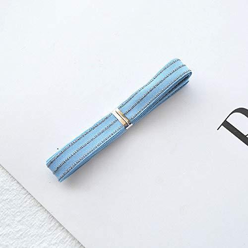 DYL&CDAI Lint 9mm (1 Meter/partij) Gestreept Lint Zilveren Rand Grosgrain Tape DIY Haarbanden Hoofddeksels Haar Boog Verpakking Kleding Naaien Accessoires