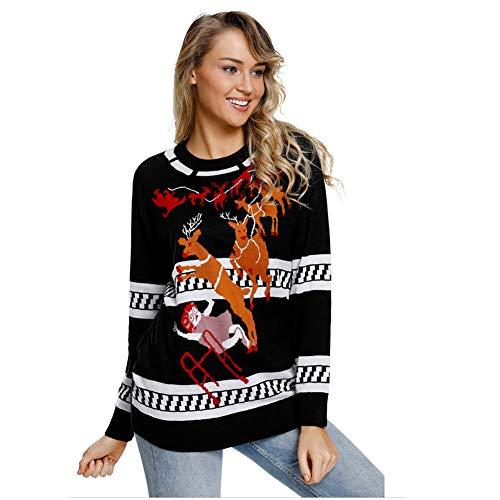 Memory Pullover Maglione Donna, Brutto Natale Renna Maglia Natale