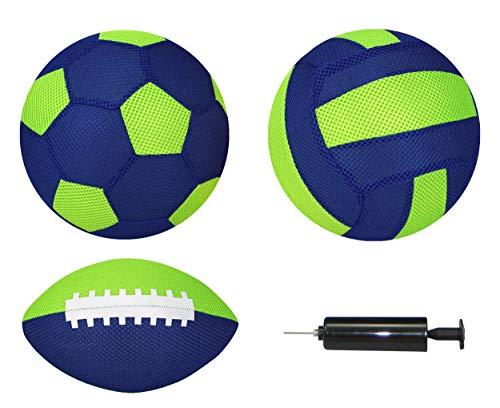 Best Sporting Neopren Beach-Ball-Set Aufblasbälle MESH 4-teilig, Farbe:blau/grün
