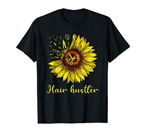 Hairstylist Hair Hustler Shirt St Sunflower Gift Women T-Shirt