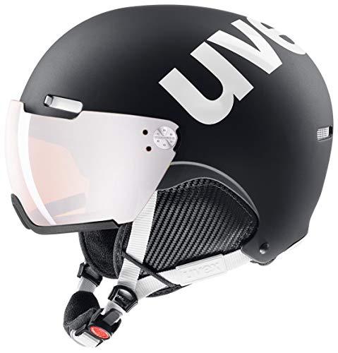 Uvex Unisex– Erwachsene, HLMT 500 visor Skihelm, black-white mat