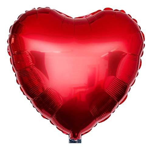 Ballongruesse – Folien Ballon Herz rot (45cm gasgefüllt im Karton) Liebesgeschenk Liebesbeweis Liebesgrüße