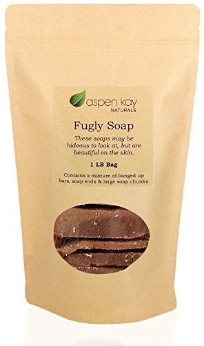 Oatmeal Soap, 1 Pound Bag of Fugly Soap, a Mixture of Banged Up Bars, Soap Ends & Soap Chunks. 100% Natural & Organic Soap.