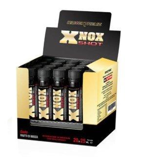 [new] BIO EXTREME XNOX SHOT (20 AMPOLLE DA 25ml)[GUSTO FRUTTI BOSCO] L-arginina AKG, L-carnitina base, Lcitrulina DL malato, beta-alanina, acido D-aspartico + OMAGGIO NT INTEGRATORI