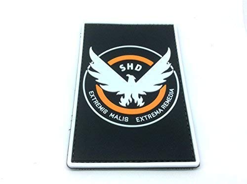 Patch Nation The Division SHD Cosplay Airsoft PVC Klett Emblem Abzeichen