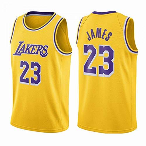 LAVATA Unisex Basketball Trikot Los Angeles Lakers Lebron James 23# Retro Basketball Shirt Sommer Basketball Uniform Heißes Drücken Tops Basketball Anzug