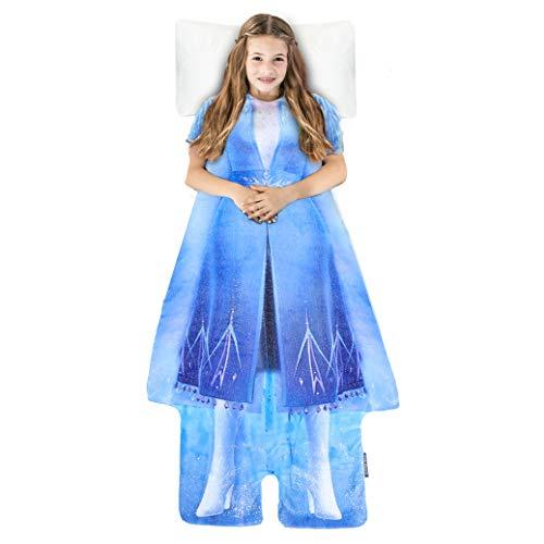 Blankie Tails | Disney Frozen Wearable Blanket - Frozen Disney Movie Double Sided Super Soft and Cozy Disney Blanket Minky Fleece Blanket (56'' H x 30' W (Kids Ages 5 - 12), Frozen 2 - Elsa Dress)