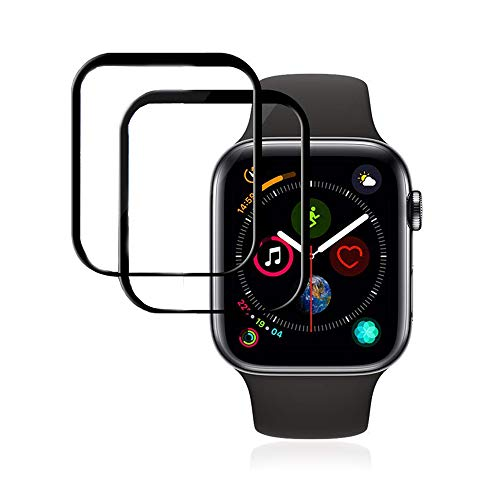 Screen Protector for Apple Watch 44mm Series 6/5/4 & Apple Watch SE 44mm with Max Coverage Anti-Bubble HD Clear Film for iWatch 44MM Flexible Film, Pack of 2