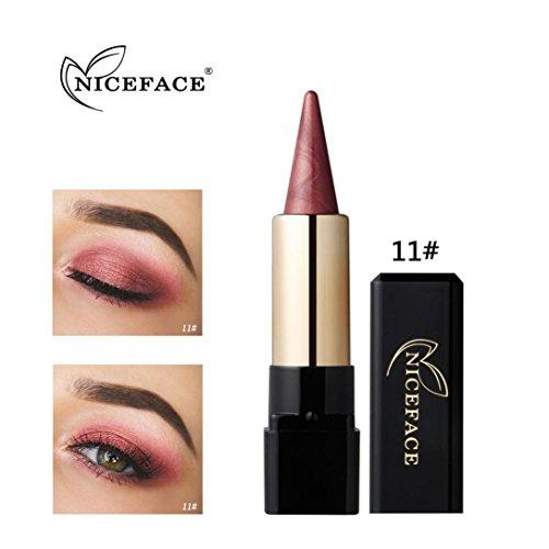 Coloré(TM) Palettes de maquillage Paillettes Poudre Ombre Stick ombre à paupières waterproof (K)