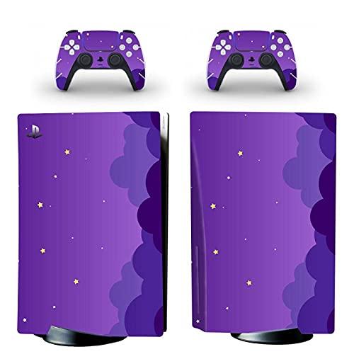 FENGLING PS5 Standard Disc Edition Skin Sticker Cover para consola y controladores PS5 Skin Sticker Vinilo
