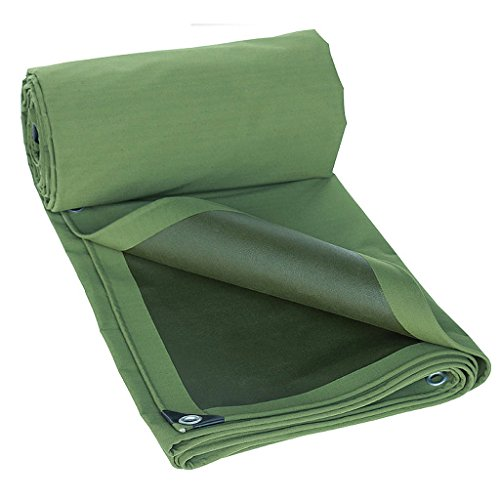 SXZHSM dikker versleutelingsdoek met lijm waterdicht dekzeil waterdicht zonnescherm regendoek luifel doek auto canvas siliconen tent waterdicht dekzeil 5*8m