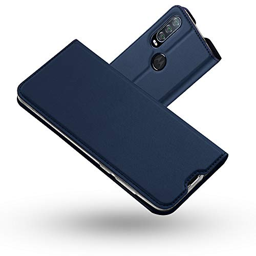 Radoo Hülle Kompatibel mit Motorola Moto One Action, Premium PU Leder Handyhülle Brieftasche-Stil Magnetisch Folio Flip Klapphülle Etui Brieftasche Schutzhülle Tasche Hülle Cover (Blau)