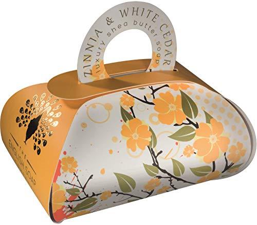 The English Soap Company, Large Gift Bag Bath Soap, Zinnia and White Cedar, 260g