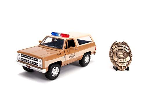 JADA TOYS - Stranger Things Chevy K5 Blaze del 1980 in scala 1:24 con distintivo die cast da collezione, + 8 anni, 253255003