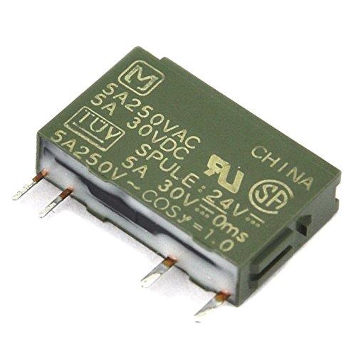 electronics-salon 10pcs Panasonic pa1a-24V 24VDC SPST 5amperios Slim Power Relay.