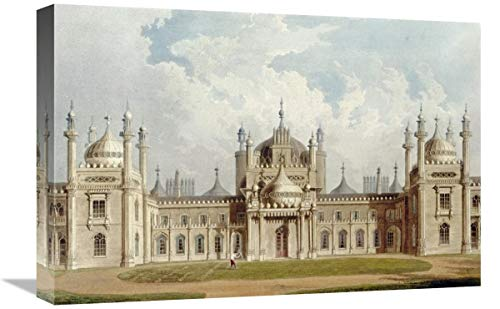Global Gallery West Front. Leinwandbild The Royal Pavilion at Brighton, 55,9 x 36,872 cm