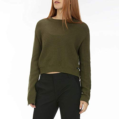 Hurley Damen Pullover W Sweater Weather Sweater, Olive Canvas, L, BV1535