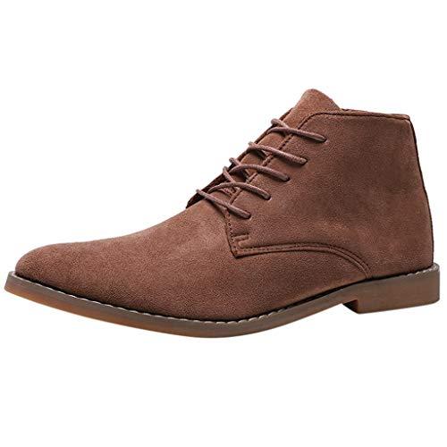 Brizz Grote winterlaarzen voor heren, casual korte laarzen, retro Engeland Tooling Boots Classics Chesil laarzen antislip, waterdicht, winter outdoor vrijetijdslaarzen
