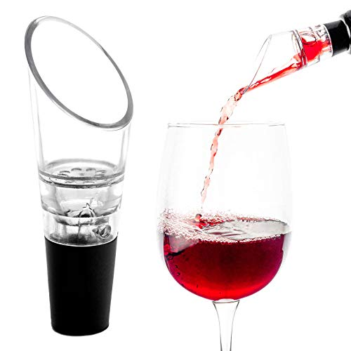 AKORD–Aireador de Vino con Sistema antigoteo, acrílico, Multicolor