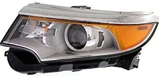 Go-Parts OE Replacement for 2011 - 2014 Ford Edge Front Headlight Assembly Housing / Lens / Cover - Left (Driver) Side - (Limited + SE + SEL) BT4Z 13008 B FO2502291 Replacement For Ford Edge