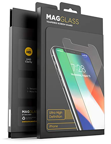 MagGlass iPhone 11 Pro Max/iPhone Xs Max Tempered Glass Screen Protector - UHD Ultra Clear Scratch Resistant Display (Bubble Free - Case Friendly)