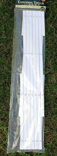 2 x White Expanding Plastic Garden Trellis 180 X 40cm 1.8m New PVC Trellis
