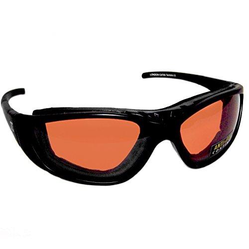 Pi-Wear London OR FM orange getönte, bruchfeste Sonnenbrille mit herausnehmbarem Polster