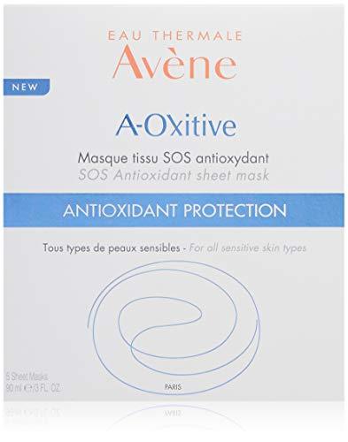 Eau Thermale Avène A-oxitive Sos Antioxidant Sheet Mask, Vitamin C & E, Hyaluronic Acid, Free Radical Protection