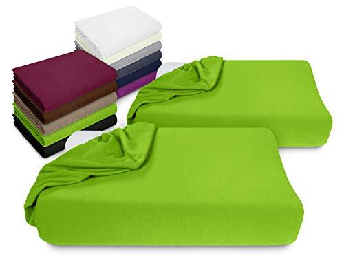 npluseins 2er Pack Spannbezüge Kissenbezüge für Gesundheitskissen 1450.2049, Spannbezug für Gesundheitskissen, apfelgrün