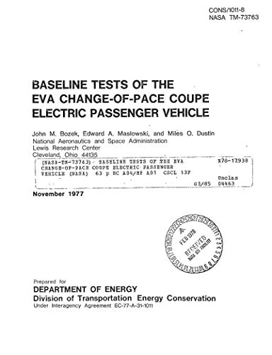 Baseline tests of the EVA change-of-pace coupe electric passenger vehicle (English Edition)