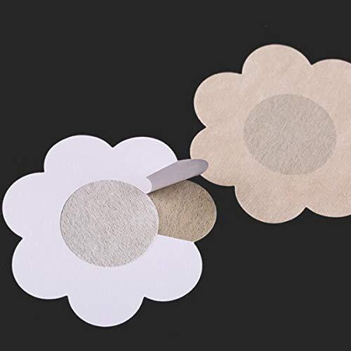 HaiQianXin Etiqueta Adhesiva Invisible de la Almohadilla del pezón de la Tapa del pezón del Pecho de Nonwovens Desechables 5par (Color : Flower Shape)