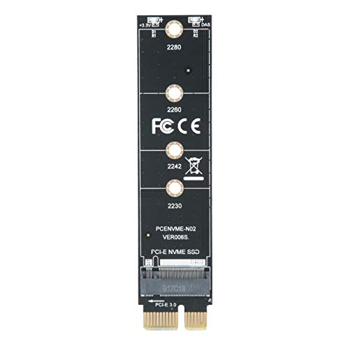 con Aleta de enfriamiento PCI-E a M.2 Conveniente convertidor Adaptador Compacto y Duradero Extensión Tarjeta Vertical para computadora
