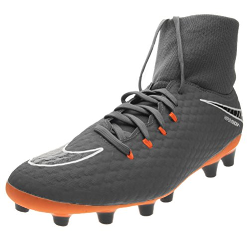 Nike Herren Hypervenom Phantom III Academy DF AG-Pro Fußballschuhe, Grau (dunkelgrau/orange dunkelgrau/orange), 41 EU