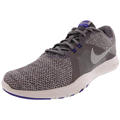Nike Womens Flex Trainer 7 Low Top Lace Up Fashion Sneakers, Grey, Size 8.0
