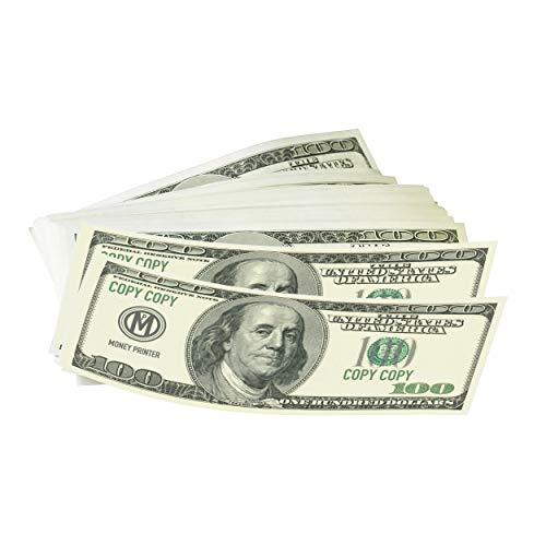 Money Printer, Prop Money 100 Dollar Bills Realistic Fake Money, Play Money, Pack of 100 Bills in Gift Box