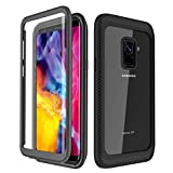 YESHON for Samsung Galaxy S9 Case, Built-in Screen Protector Full Body Clear Cover Case Shockproof Heavy Duty Protective Case for Samsung Galaxy S9