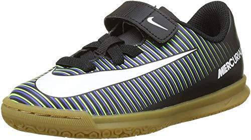 Nike Jungen JR Mercurialx Vortex 3 (V) IC Fußballschuhe, Schwarz (Schwarz/Weiß/Elektrisch-Grün/Paramount Blau), 33.5 EU (1.5 UK)