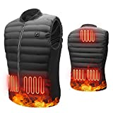 Antelife Chaleco Calefactable Hombres Mujeres, USB Chaleco Termico Electrico,Chaleco Calefactor Lavable con 3 Niveles de Temperatura & 5 Zonas para Cámping Excursionismo Esquiar