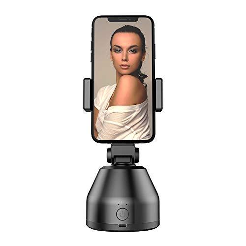 Jorzer Auto Gimbal Stabilizer Smartphone-Tracking-Halterung 360 Rotation Face Tracking Selfie Stock-stativ Objektverfolgung Ständer Kamera (schwarz)