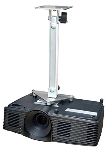 PCMD, LLC. Projector Ceiling Mount Compatible with Optoma EH341 GT1070X GT1080 H112e H182X HD141X HD26 (Telescoping 13-20-Inch Extension)