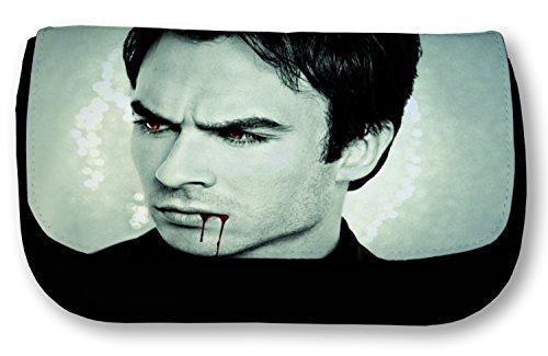 Schwarze Federmappe Damon Salvatore (Vampire Diaries, Ian Somerhalder)
