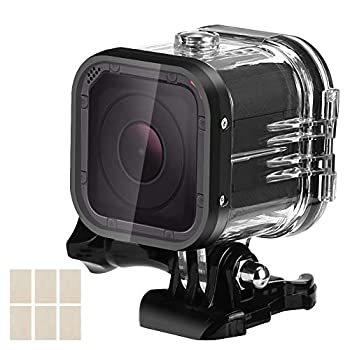 WiserElecton 60m Dive Protective Housing Case for GoPro Hero 5 Session/Hero 4 Session/Hero Session High Transmission Waterproof Housing Case for Hero Session Action Camera