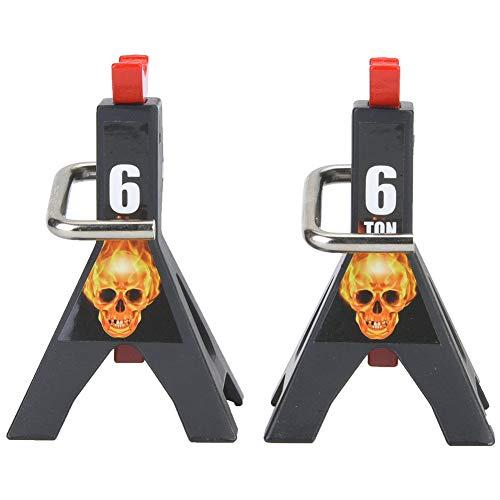 RC Jack Stand, 2Pcs 1/10 Mini RC Metal 6 Ton Simulación Jack Stands Juego de reparación Apto para RC4WD SCX10 D90 RC Crawler