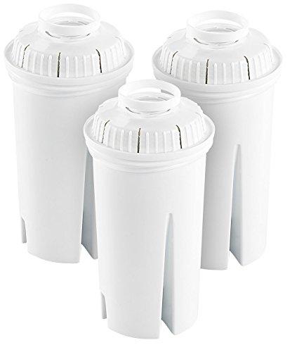 Rosenstein & Söhne Wasserfilterkartuschen: Filterkartuschen rund, 3er Pack, passend für Brita Classic (Kalkfilter)