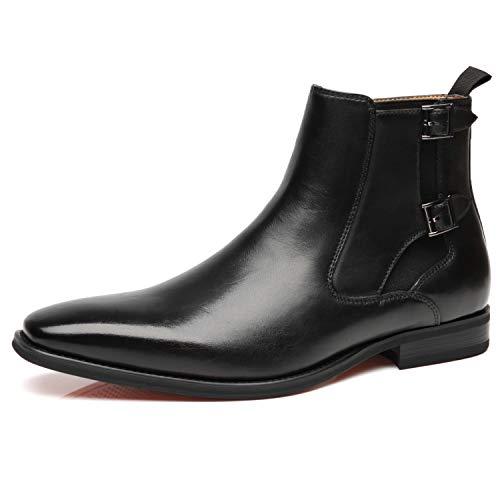 La Milano Men's Chelsea Boots Genuine Leather, Angus-2-black, Size 11.0 New Hampshire