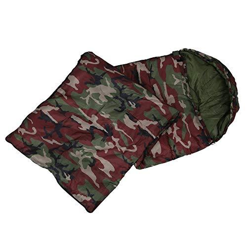 hhxiao Outdoor slaapzak 190 * 75cm Katoen Camping Slaapzak, 15°C~5°C Graden, Envelopstijl, Camouflage Slaapzakken