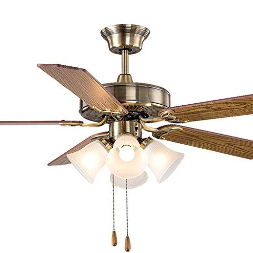 Vintage fan kroonluchter eenvoudige ventilator lamp woonkamer slaapkamer fan restaurant eettafel houten blad plafondventilator lichten